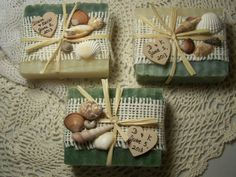25 Beach Wedding favors  -  organic soaps - Shea butter,  handmade soaps - wooden heart - wedding favors