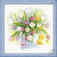 A Dream Of Tulips - Cross Stitch Kits by RIOLIS - 100/008