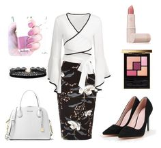 """""""Winter Office Look"""" by atarix on Polyvore featuring River Island, Azalea, MICHAEL Michael Kors, Lipstick Queen and Yves Saint Laurent"""