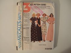 McCalls Pattern 5871 sizes 1620 uncut by KalimahsKreationsLLC