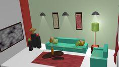 interior en Blender 1ra vista