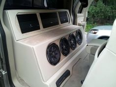Alpine amp's, Kicker sub's, & Xbox 360 Custom Subwoofer Box, Subwoofer Box Design, Custom Car Interior, Truck Interior, Custom Car Audio, Custom Cars, Car Audio Installation, Custom Consoles, Vanz