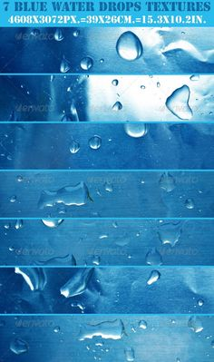 Waters drops textures