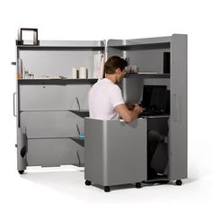 office furniture, computer desks, storage cabinets and chairs on casters