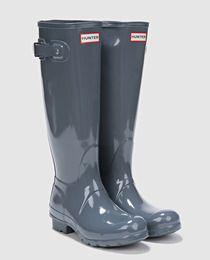 Botas de agua de mujer Hunter grises