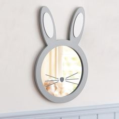 Create a luxurious and unique decoration for the kids' room using the most unique mirrors. Decoration Creche, Decoration Chic, Kids Mirrors, Unique Mirrors, Decorative Mirrors, Baby Decor, Kids Decor, Wood Plastic, Bunny Room