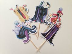 Disney Villans Cupcake Toppers by DianasDen on Etsy, $10.00