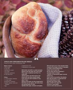 Apple/Cinnamon filled bread