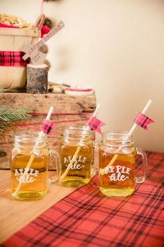 Boys Lumberjack Themed Birthday Party Drink ideas