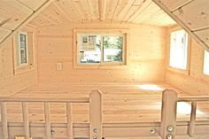 sleeping loft in molecule tiny home   This Molecule Tiny Home has Every Amenity You Could Want!