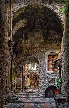 The question is: is this a photo or a painting?-Medieval Village of Dolceacqua, Italy Places Around The World, The Places Youll Go, Places To See, Around The Worlds, Italy Vacation, Italy Travel, Wonderful Places, Beautiful Places, Vila Medieval