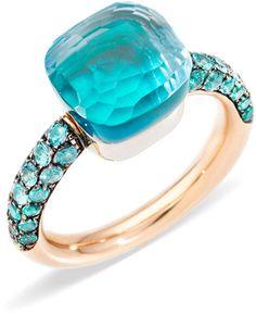 Bijoux Pomellato (Ref : Jewelry Rings, Fine Jewelry, Jewlery, Unique Promise Rings, Bijoux Design, Budget Planer, Topas, Aquamarine Jewelry, Agate Ring