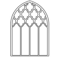 Kirchenfenster malvorlage 09 Basteln Pinterest