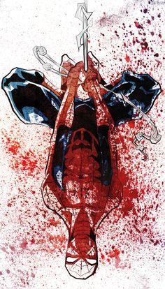spiderman splatter art
