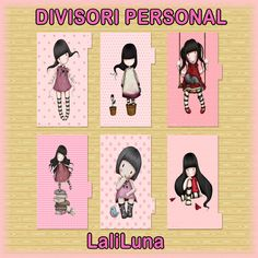 Divisori per agenda filofax Personal - Cute Dividers printables GORJUSS--see more at: https://www.facebook.com/pages/LaliLuna/445217398949643  --- https://www.etsy.com/it/shop/LaliLunaStore