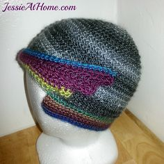 I have the most fun in discovering new crochet beauty for you when I find something really different and unusual. This fantastic hat from Jessie Rayot of Jessie at Home certainly fits that description. It's wonderful and unusual and truly original.  Once again, it shouldn't come