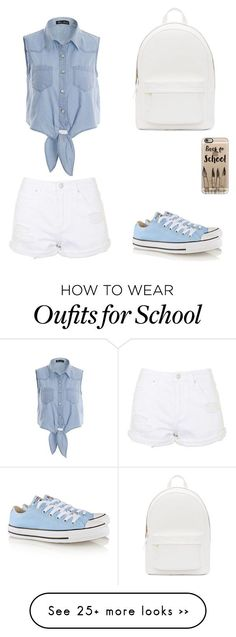 """Back to school "" by elizuyen on Polyvore featuring PB 0110, Topshop, Converse…"