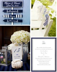 We love nautical weddings! Whether you choose to decorate with sailboats, anchors or a mixture of both, a nautical theme in classic navy and white is sure to be a first-class affair. #nautical #beach #wedding #anchor