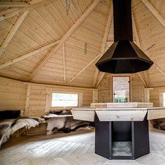 Nordic SPA - Grillkota 16,5 m² mit angebauter Sauna - Ihr Versandhandel für Badefass, Fasssauna und Grillkota