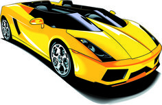 set of various sport cars vector