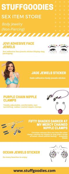 StuffGoodies has the best selection of body jewelry for you, from the greatest manufacturers, with high quality and affordable prices! Contact us on the chat online or at service stuffgoodies com to have a better shopping experience Shop with us and get your order shipped within 24 hours Face Jewels, Bag Display, Fifty Shades Darker, Body Jewelry, Female Bodies, Infographics, You Got This, Piercing, Good Things