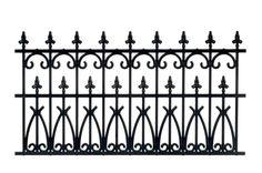 Ornate Fence Black 2pc   Mary's Dollhouse Miniatures