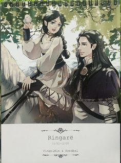 Fingolfin and his daughter Aredhel Tolkien Hobbit, The Hobbit, My Fantasy World, Fantasy Art, History Of Middle Earth, Character Art, Character Design, Dark Elf, Thranduil
