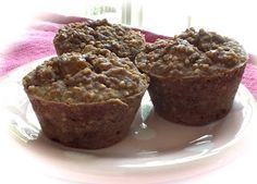 Pink-Vegan: Daniel Fast Applesauce Cinnamon Steel Cut Oat Muffins (GF)
