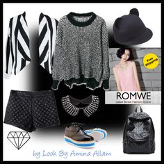 """""""Romwe"""" by Look By Amina Allam"""