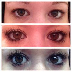 Best Mascara Top picture: No mascara Middle picture: Regular mascara Bottom picture: Younique 3D Fiber Mascara To get this look visit www.youniqueproducts.com/JaclynBriggs