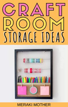 The ultimate list of all the best craft room storage ideas, from products to buy, DIYs to try and budget friendly options! #craftroom #craftroomstorage #craftsupplies #organization #storagesolutions Craft Paint Storage, Craft Storage Cart, Craft Storage Containers, Craft Storage Cabinets, Craft Storage Solutions, Storage Ideas, Craft Room Organisation, Craft Room Desk, Craft Rooms