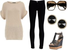 """""""Black and Brown"""" by fashionista-ems on Polyvore"""