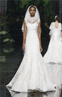 Pronovias fishtail wedding dress
