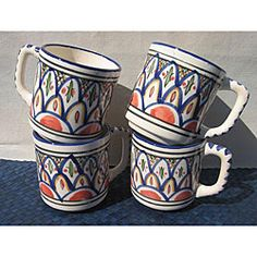 @Overstock - Enhance your home decor with a set of hand-thrown mugs  Unique ceramics are accented by hand-painted detailing  Exotic serving cups feature food-safe paints and glazeshttp://www.overstock.com/Worldstock-Fair-Trade/Tabarka-Design-Coffee-Mugs-Tunisia/4044399/product.html?CID=214117 $30.47