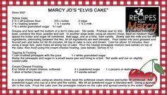 Marcy Jo's Elvis Cake