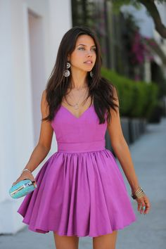Not sure about the fabric or exact dress cut, but I like the color and overall idea behind this dress