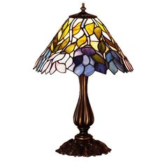 "Meyda 21""""H Wisteria Accent Lamp"