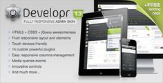 Site Templates - Developr - Fully Responsive Admin Skin | ThemeForest - only $18