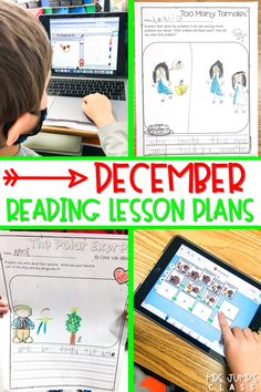 Reading lesson plans for December are here! Digital reading response activities for your favorite Gingerbread and December stories! Keep students engaged in learning with these reading comprehension activities.