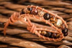 BUDDHA Men's Leather Hematite & Quartz by NOMADaccessoriesETSY