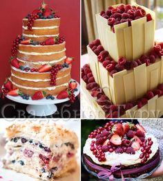 Свадебный торт с ягодами и фруктами