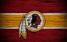 Download wallpapers Washington Redskins, 4k, wooden texture, NFL, american football, NFC, USA, art, logo, East Division