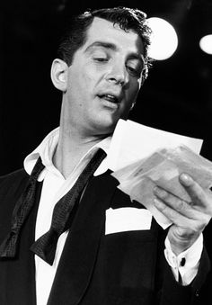 Dean in his early career when he was part of the Martin and Lewis team -- web source - MReno;-)