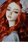Toys doll baby long hair girl beautiful red hair green eyes wallpaper ...