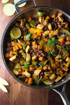 chili lime chicken sweet potato skillet fprn