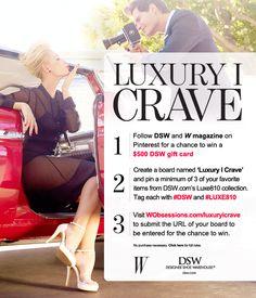 cca5ce03c779 Jimmy Choo · Enter the Luxury I Crave sweepstakes  WMagazine  DSW W  Magazine
