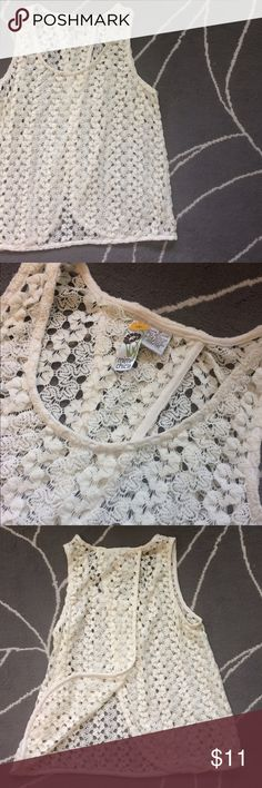 Mimi Chica Cotton Lace Open Tank Flowy open tank, cut back, perfect for summer music festivals. Mimi Chica Tops Tank Tops