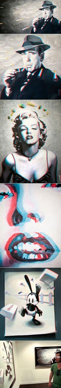 Classic Hollywood en 3D par Stefan Da Costa Gomez Classic Hollywood, Friendship Bracelets, Costa, Journal, Artists, Design, Fashion, Fashion In The 80s, 3d Painting
