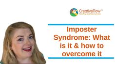 Imposter Syndrome: What is it & how to overcome it - Call Una at 1 Live, Business Checks, One Team, New Job, True Colors, Colours, Intuition, Creative Business, Success