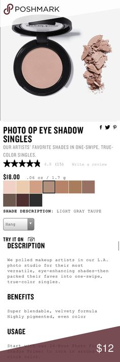"""Smashbox Photo Op Eyeshadow Single """"Hang"""" NEW Brand new, never opened Smahsbox photo op Eyeshadow Single in """"hang"""" Smashbox Makeup Eyeshadow"""